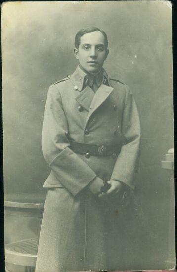 Vojak v kabatu | antikvariat - detail pohlednice