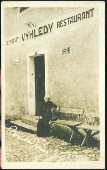 Trhanov  restaurant Vyhleddy | antikvariat - detail pohlednice