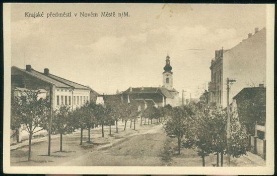Krajske predmesti v Novem Meste nM   antikvariat - detail pohlednice