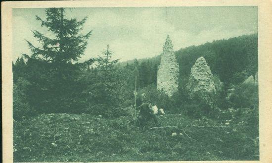 Hrabusice Klastorisko   antikvariat - detail pohlednice