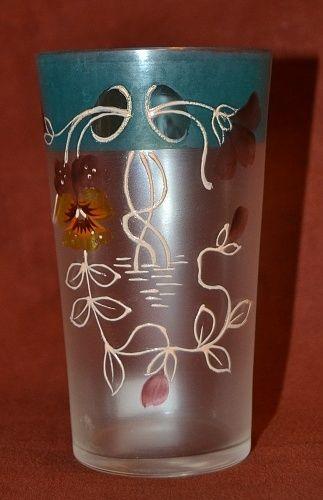 Malovana sklenice | antikvariat - detail starozitnosti