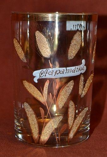 Zlacena sklenice | antikvariat - detail starozitnosti