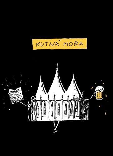 Kutna Hora  Barbora - Cerne bavlnene tricko | antikvariat - detail tricka