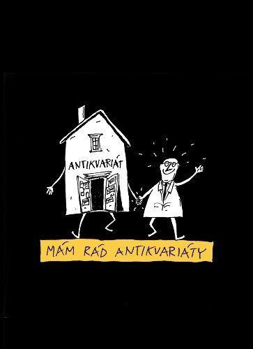 Mam rad antikvariaty - Cerne bavlnene tricko podle navrhu Pavla Koutskeho | antikvariat - detail tricka